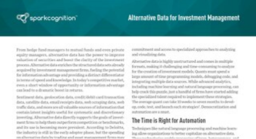 Use Case: Alternative Data for Investment Management