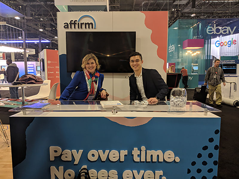 Elizabeth Allin and Eric Nevalsky in the Affirm booth