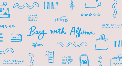 Illustratioin of fashion items and 'buy with Affirm'