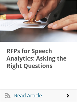 RFPs for Speech Analytics: Asking the Right Questions