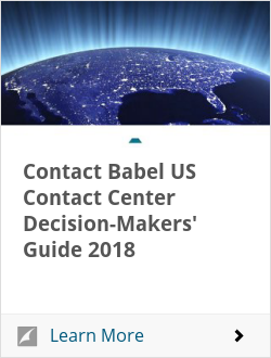 Contact Babel US Contact Center Decision-Makers' Guide 2018