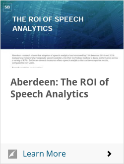 Aberdeen: The ROI of Speech Analytics