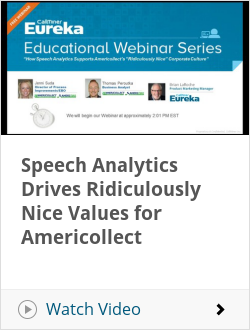 Speech Analytics Drives Ridiculously Nice Values for Americollect