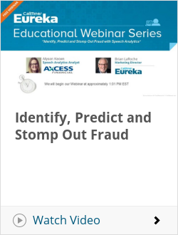 Identify, Predict and Stomp Out Fraud
