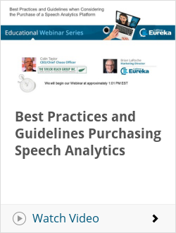 Best Practices and Guidelines Purchasing Speech Analytics