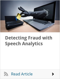 Detecting Fraud with Speech Analytics