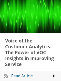 Voice of the Customer Analytics: The Power of VOC Insights in Improving Service