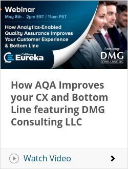 How AQA Improves your CX and Bottom Line featuring DMG Consulting LLC