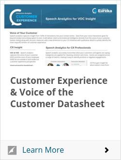 Customer Experience & Voice of the Customer Datasheet