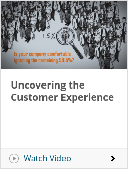 Uncovering the Customer Experience