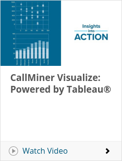CallMiner Visualize: Powered by Tableau®