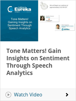 Tone Matters! Gain Insights on Sentiment Through Speech Analytics
