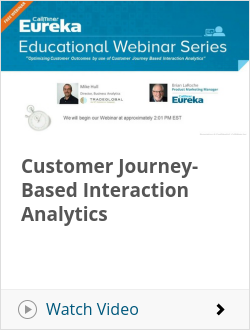 Customer Journey-Based Interaction Analytics
