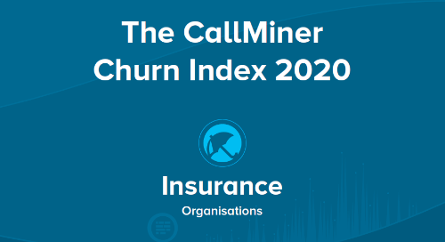 UK CallMiner Churn Index for Insurance Organisations
