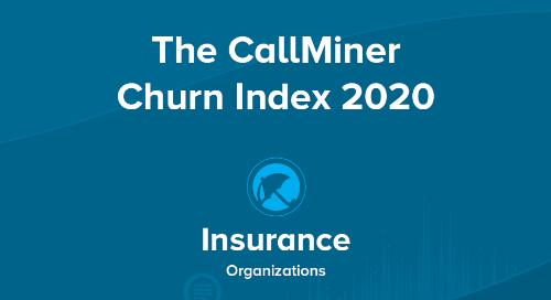 US CallMiner Churn Index for Insurance Organizations