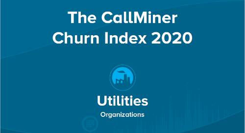 US CallMiner Churn Index for Utilities Organizations