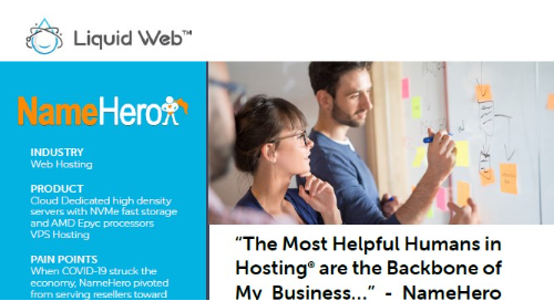 """The Most Helpful Humans in Hosting® are the Backbone of My Business..."" - NameHero Case Study"