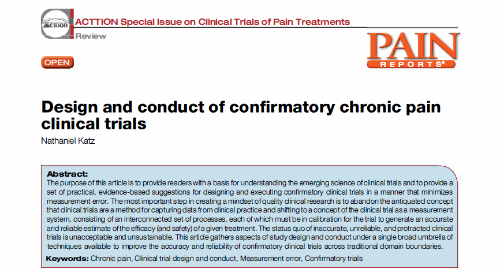 Design and Conduct of Confirmatory Chronic Pain Clinical Trials