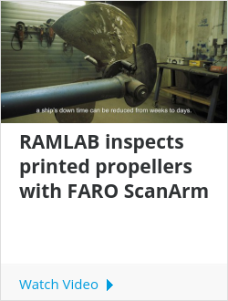 RAMLAB inspects printed propellers with FARO ScanArm