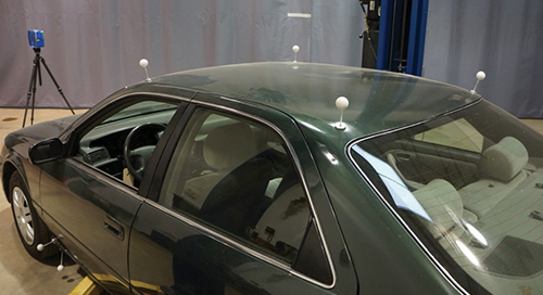Vehicle undercarriage scanning for use in crash reconstruction