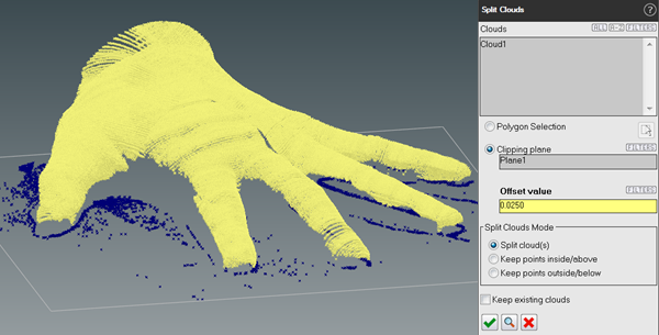 screenshot BuildIT Hand Split Point Cloud Clip Plane