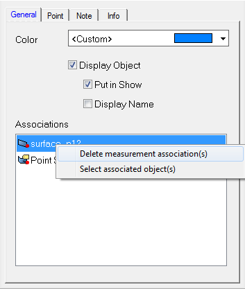 Point-to-Surface Delete Measurement Associations