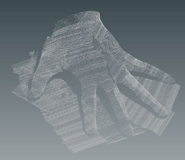 screenshot BuildIT Hand Point Cloud