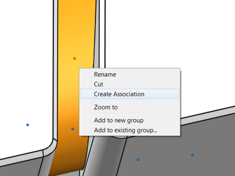 Point-to-Surface Create Association