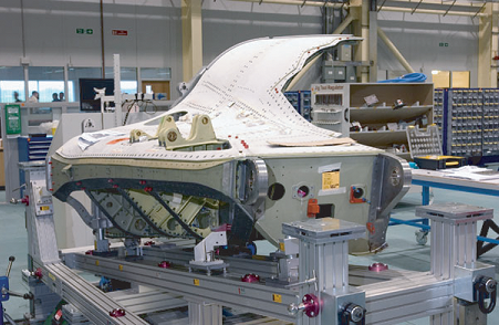 The aft port side fuselage of the F-35 CTOL A1 nears completion at BAE.