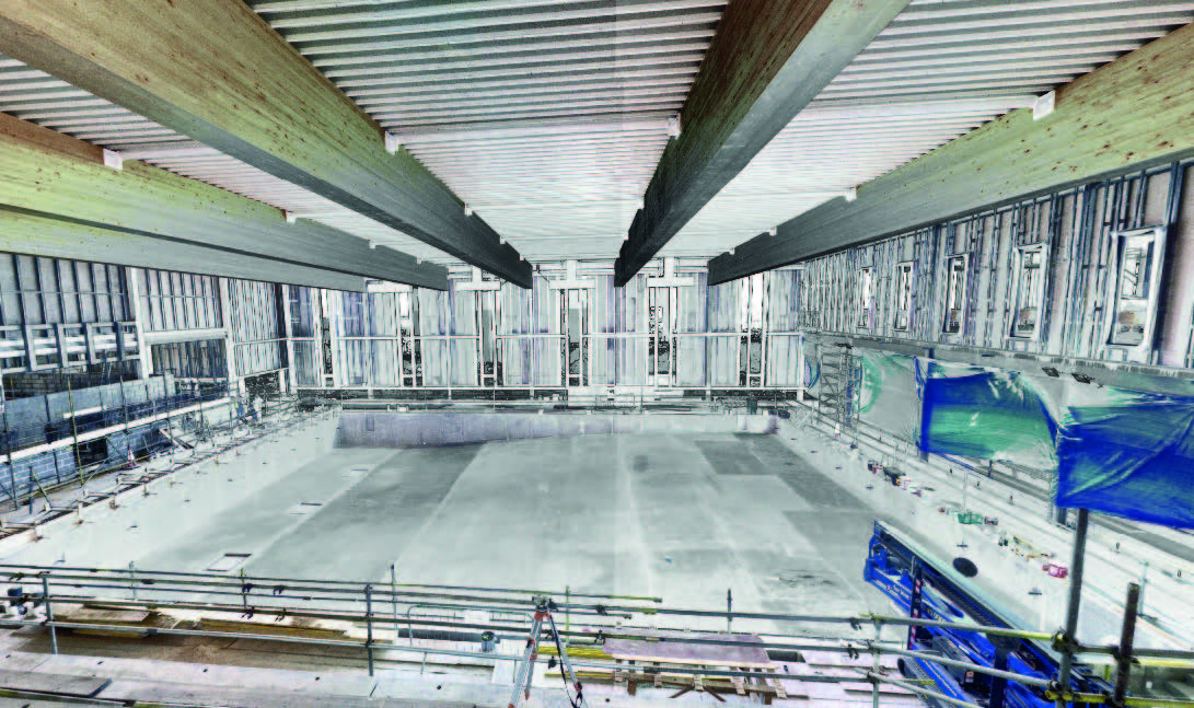 Dover District Leisure Centre, Swimming Pool Construction - FARO Focus Laser Scanner Image