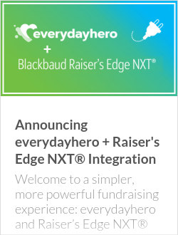 Announcing everydayhero + Raiser's Edge NXT® Integration