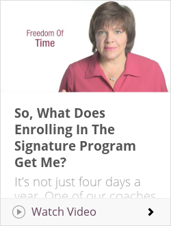 So, What Does Enrolling In The Signature Program Get Me?
