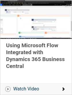 Using Microsoft Flow Integrated with Dynamics 365 Business Central