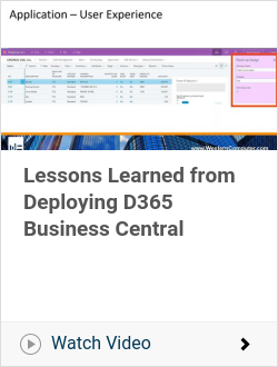 Lessons Learned from Deploying D365 Business Central