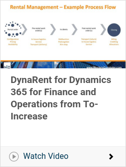 DynaRent for Dynamics 365 for Finance and Operations from To-Increase