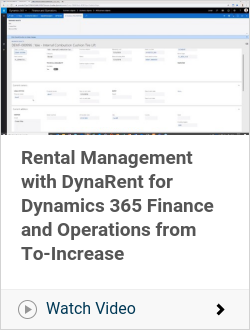 Rental Management with DynaRent for Dynamics 365 Finance and Operations from To-Increase