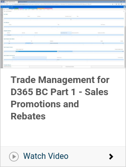 Trade Management for D365 BC Part 1 - Sales Promotions and Rebates