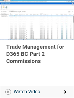 Trade Management for D365 BC Part 2 - Commissions