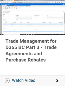 Trade Management for D365 BC Part 3 - Trade Agreements and Purchase Rebates