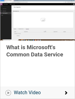 What is Microsoft's Common Data Service