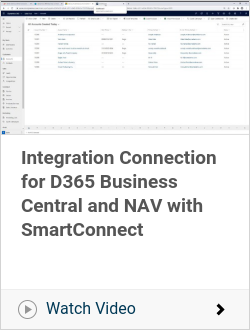 Integration Connection for D365 Business Central and NAV with SmartConnect