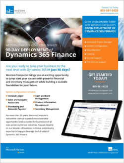 Dynamics 365 Finance 90-Day Deployment