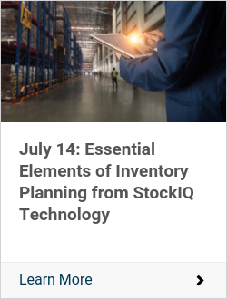 July 14: Essential Elements of Inventory Planning from StockIQ Technology