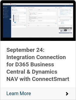 September 24: Integration Connection for D365 Business Central & Dynamics NAV with ConnectSmart
