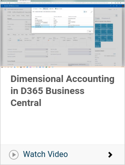 Dimensional Accounting in D365 Business Central