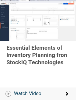 Essential Elements of Inventory Planning fron StockIQ Technologies