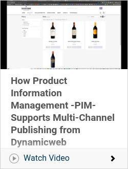 How Product Information Management -PIM- Supports Multi-Channel Publishing from Dynamicweb