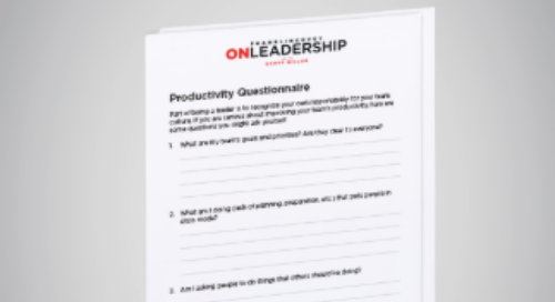 Productivity Questionnaire