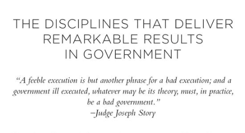 The 4 Disciplines of Execution in Government - Monograph