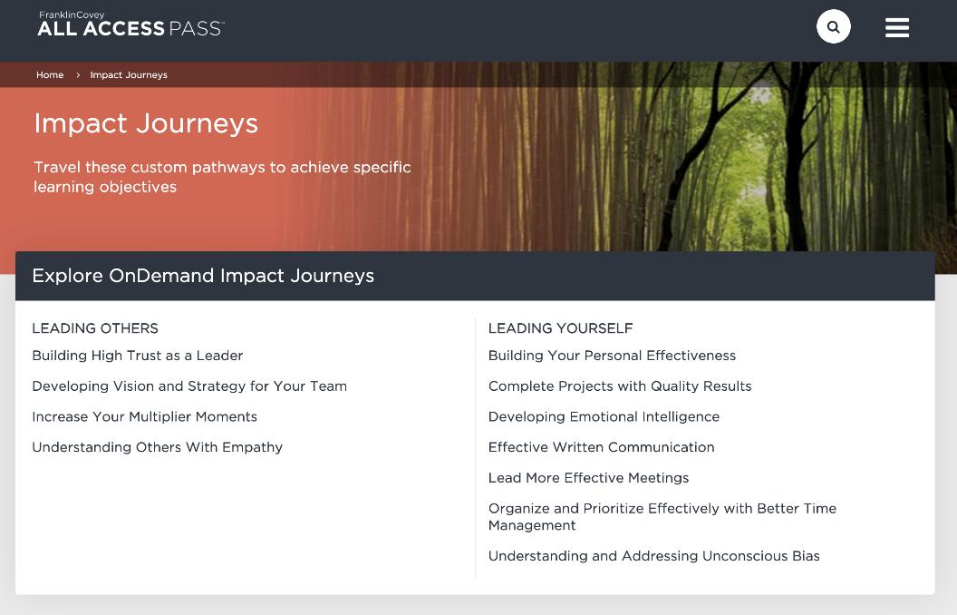 The new On Demand Impact Journeys